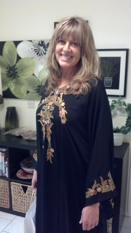 Fancy abaya, ready for dinner out