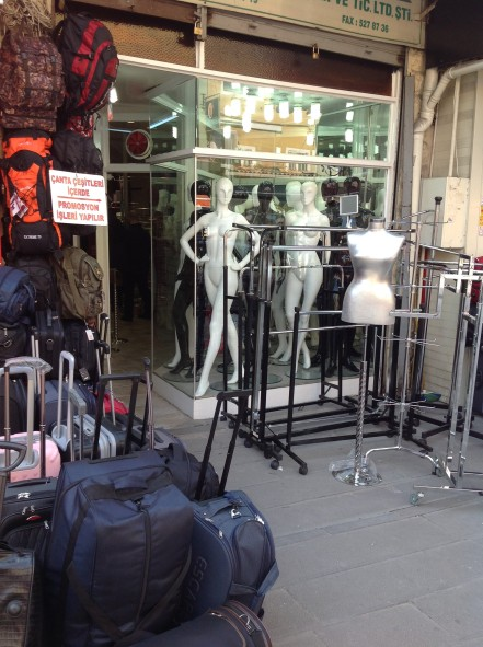 Luggage and mannequins, Istanbul
