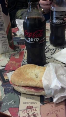 Prosciutto Sandwich in Rome