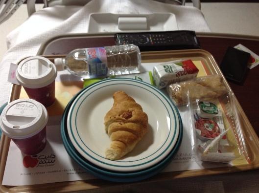 Saudi hospital breakfast