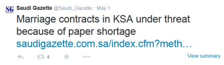 paper shortage tweet