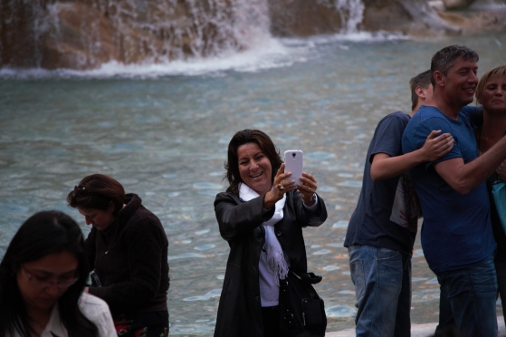 Selfie at Trevie Fountain