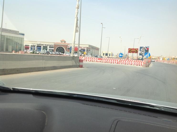 Barricaded u-turn