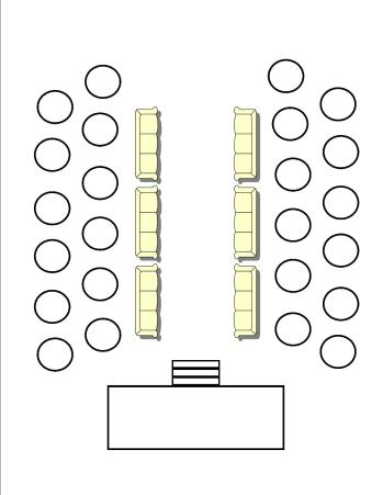 wedding hall diagram