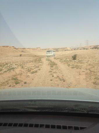 Saudi desert driving