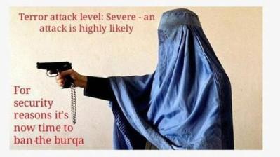 anti-burqa poster