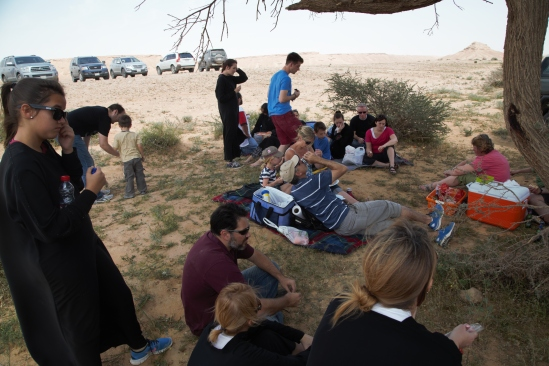 Edge of the World picnic, Saudi Arabia