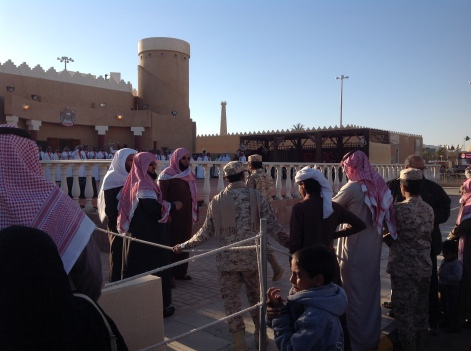 Janadriyah: men watching a dance performance