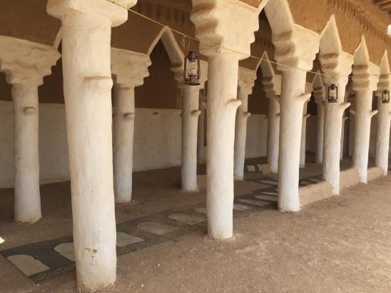 Prayer rugs at an old mosque, Saudi Arabia