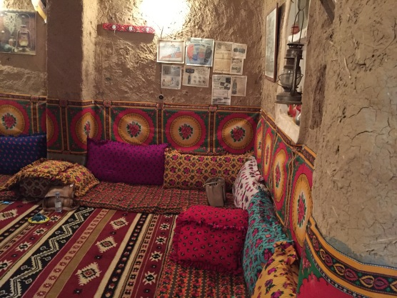 Traditional Arabian mud brick home, interior