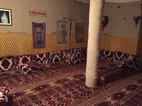 Traditional Arab living room: majlis