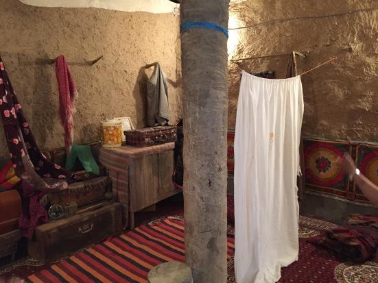 Sleeping room in a traditional Arabian mud-brick home