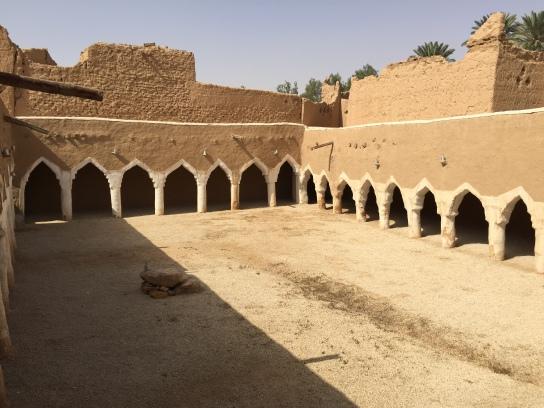 Mosque courtyard, Raudat Sudair, Saudi Arabia