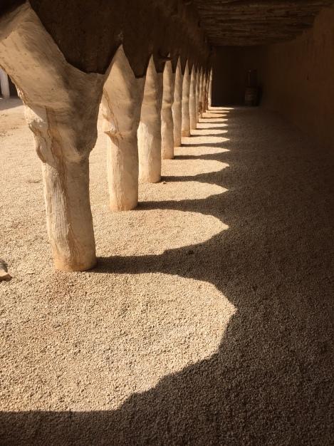 Afternoon sun at a mosque, Raudat Sudair, Saudi Arabia