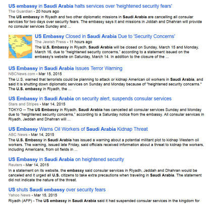 Saudi Arabia Google News results