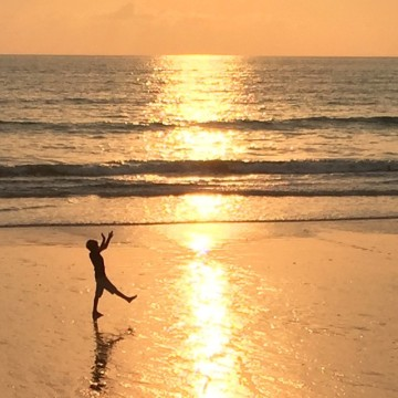 Child at Sunset, Khao Lak, Thailand