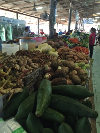 Vegetables at the Khao Lak Market, Thailand