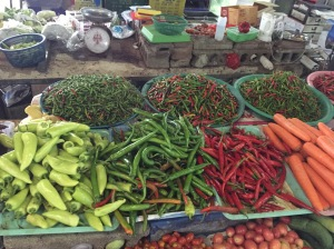 Chilis at the Khao Lak Market, Thailand
