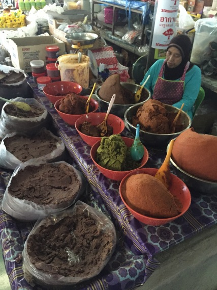 Curry vendor at the Khao Lak Market, Thailand