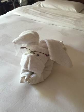 Still Life, Dog Towel with Glasses