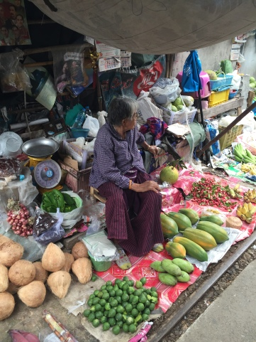 Fruits and vegetables at the Train Market, Bangkok, Thailand