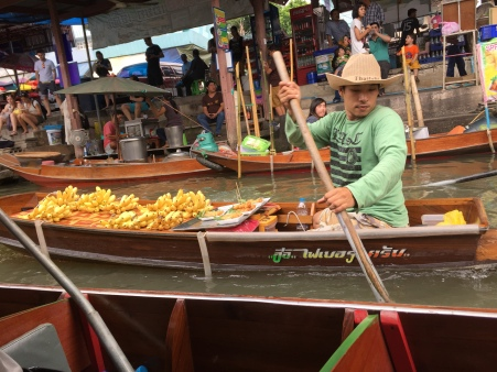 Fruit seller at the floating market, Thailand