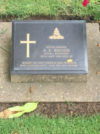 Headstone, Prisoner of War Cemetery along the River Kwai, Thailand