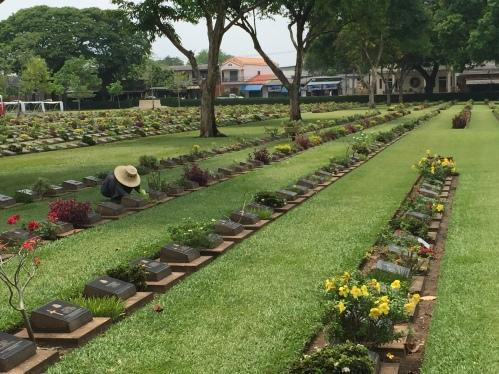 Prisoner of War Cemetery along the River Kwai, Thailand