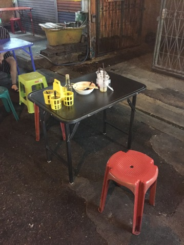 Street food dining table, Bangkok
