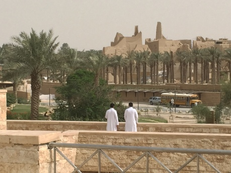 Enjoying the view at Historic Diriyah