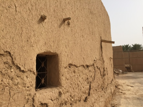 Window and wall, historic Diriyah, Riyadh