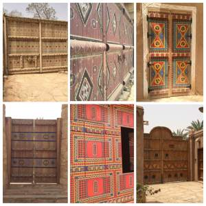 Painted doors at historic Diriyah