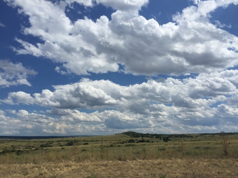 Colorado sky, Castle Rock