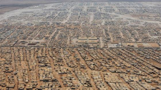 Zaatari Syrian refugee camp in Jordan