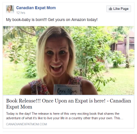 Canadian Expat Mom Lisa Webb on release day