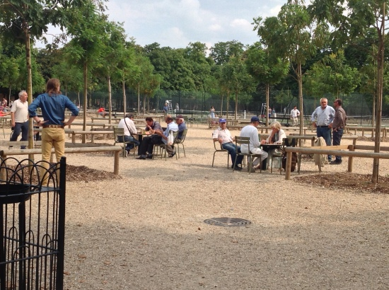 Chess games in Luxembourg Gardens, Paris, France