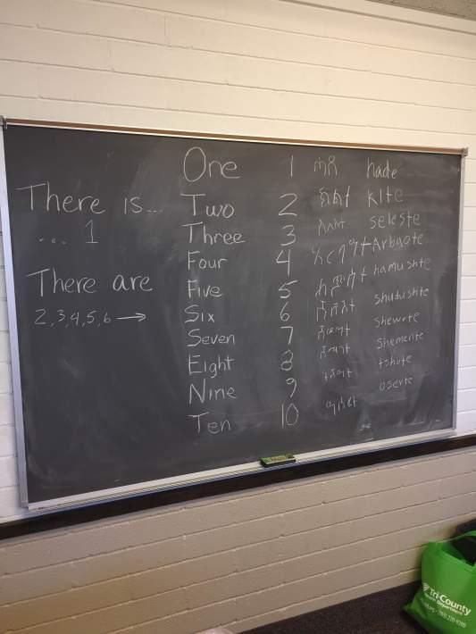 Counting in English and Tigrinya and English again
